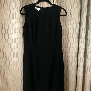 Calvin Klein lined black dress